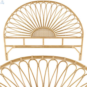 3D bedside rattan