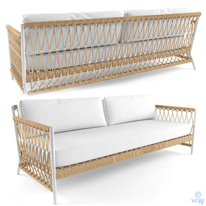 3D model salt creek sofa serena