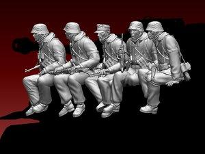 german soldiers 3D