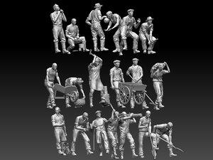 printer worker 3D model