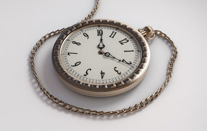 3d intricate antique pocket watch
