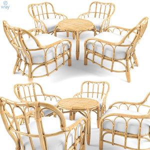 3D mastholmen 4 seat conversation