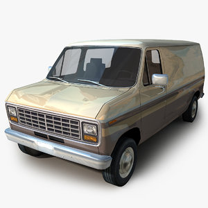 generic van 02 cars 3D model