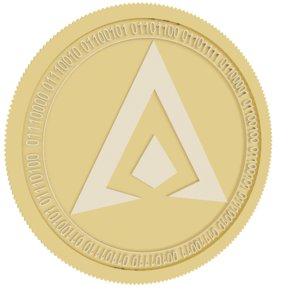 hai chain gold coin 3D model