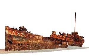 shipwreck scan 16k 3D