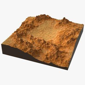 3D model cartoon terrain 02