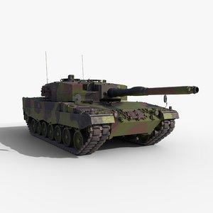 3D tank leopard 2 a4 model