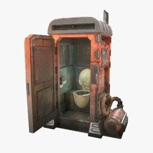 dahl porta-potty borderlands 3D model