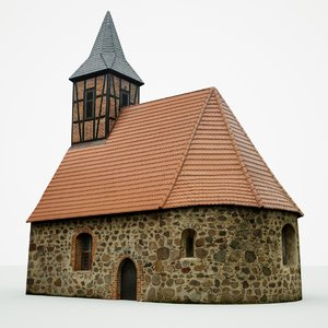 3D model medieval feldstein church