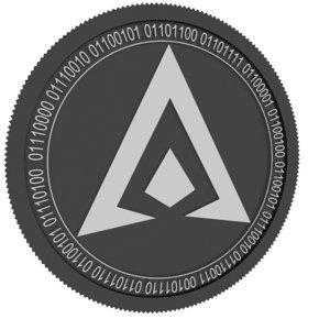 3D hai chain black coin