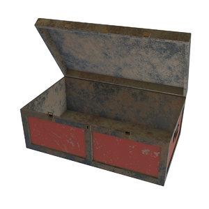 metallic box 3D