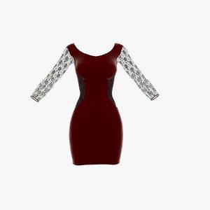 3D wilda dress model