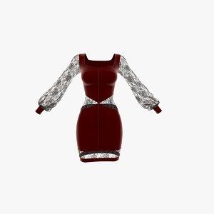 gown femme fatale 3D model