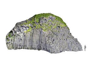 3D iceland basalt cliff 16k