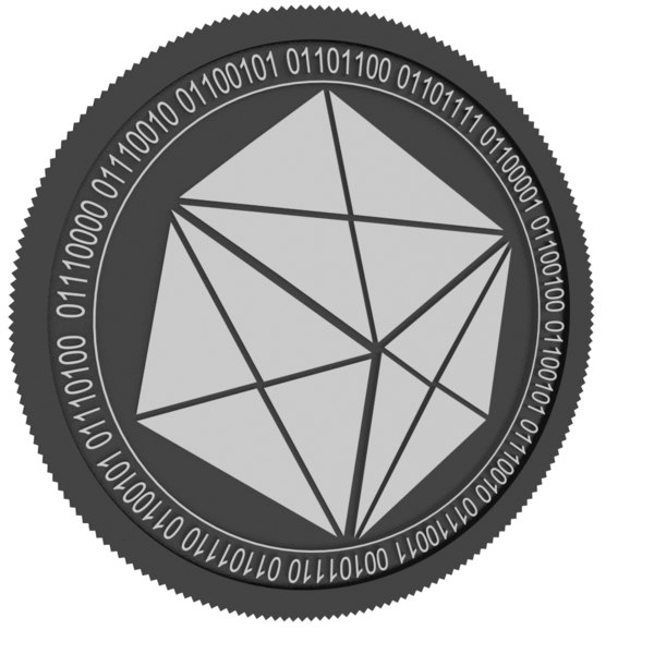 3D hashbx black coin model