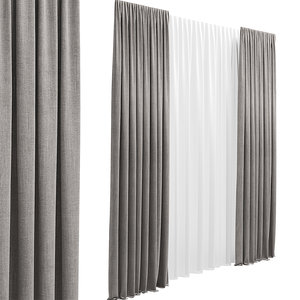 curtain fabric cloth 3D model