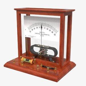 knott universal galvanometer 3D model