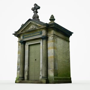 mausoleum crypt building model
