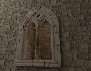 medieval window 3D model