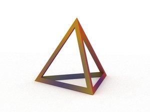 tetrahedron polyhedron shape model