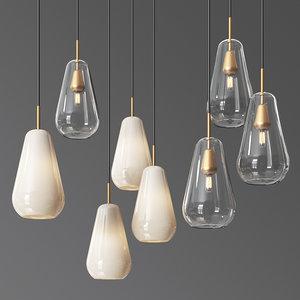 anoli pendat chandelier set model