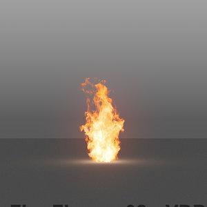 3D model burning flames 02 vdb