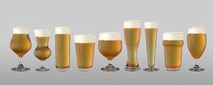 shaped pint beer model