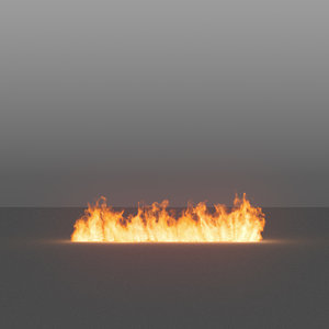 3D burning flames 03 vdb