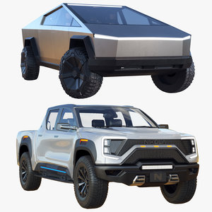 electric pickup trucks tesla 3D
