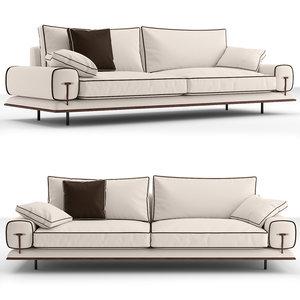 3D v-ray blues sofa model