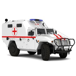 3D gaz ambulance