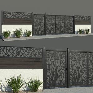 fence 02 3D model