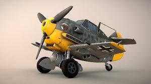 3D toon messerschmitt model