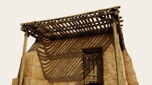 egyptian hut 3D model