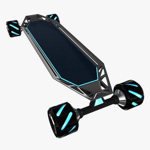 3D skate skateboard board model