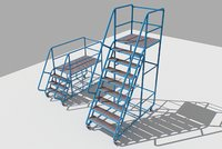 Industrial Warehouse Stairs