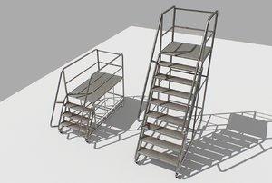 3D industrial stair
