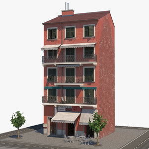 3D italy realistic architecture