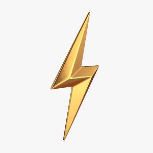 lightning symbol 3D model