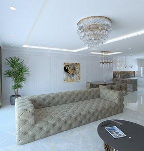 livingroom interior 3D