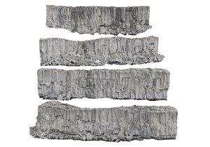 iceland basalt cliff pack 3D