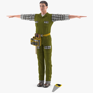 carpenter t-pose 3D model