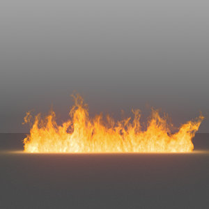3D burning flames 05 vdb