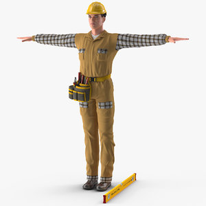 builder t-pose model