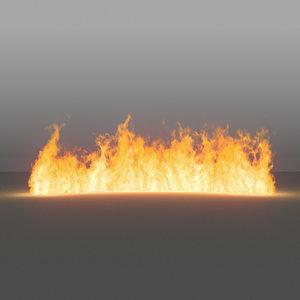 burning flames 06 vdb 3D model