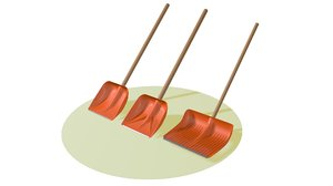 3D model shovel spade trowel