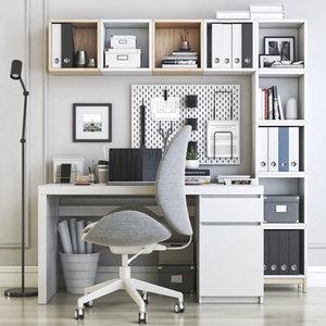 3D model office desk chair