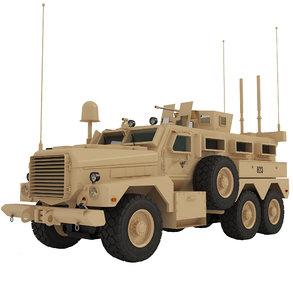 3D armored vehicle mrap cougar model
