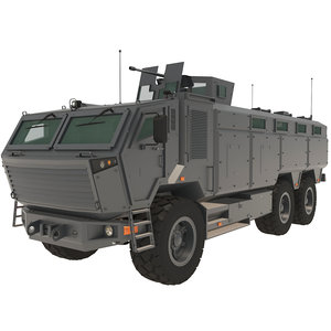 armored interior 3D model