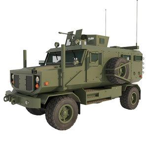 3D mrap armored vehicle interior